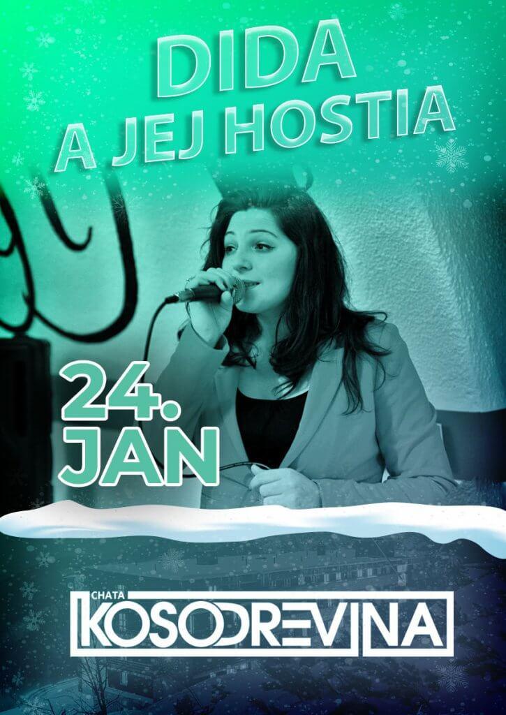 Koncert chata kosodrevina Chopok DIDA a jej hostia