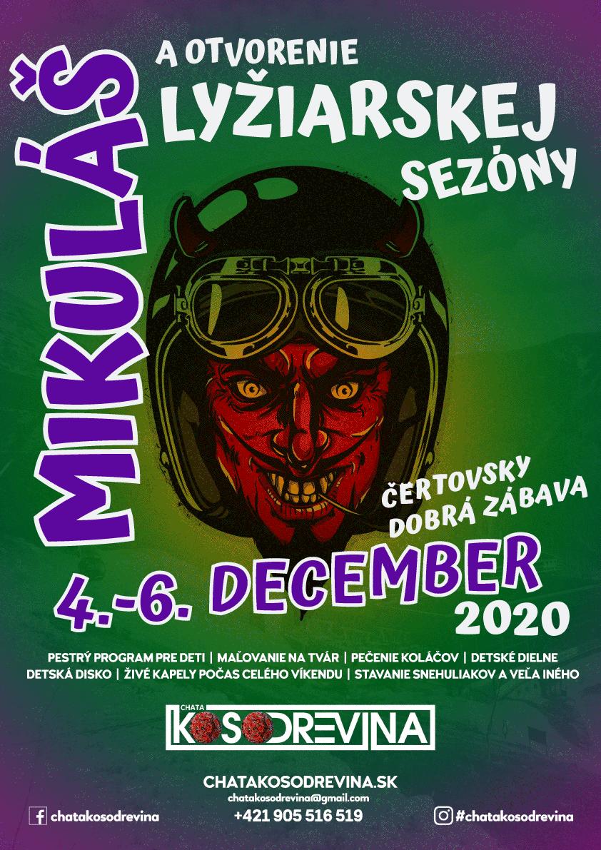 Mikuláš 2020 pre deti 4 az 6 december Jasna Chopok Chata Kosodrevina alias Koska