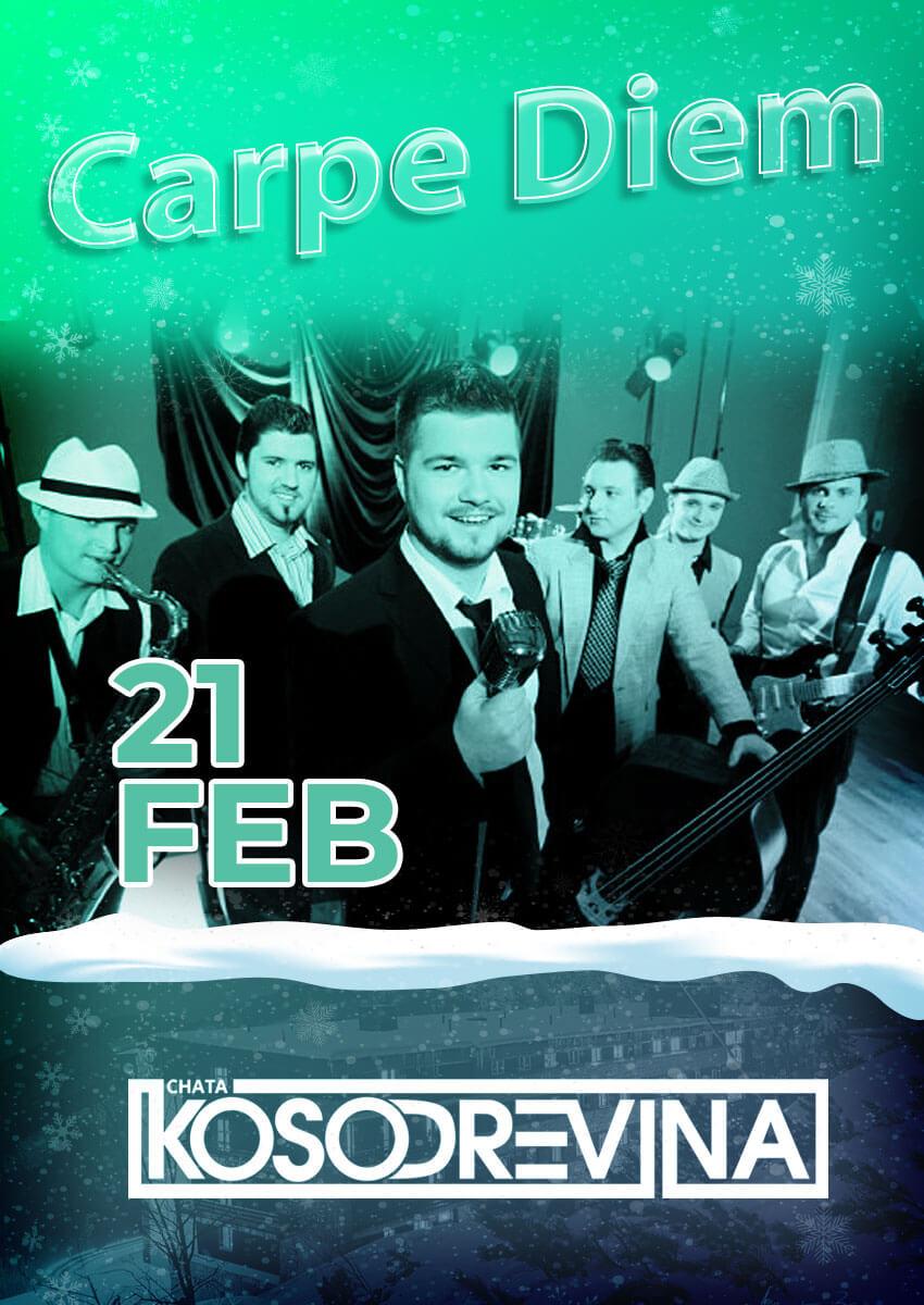 Koncert Carpe Diem chatakosodrevina Chopok februar na koske