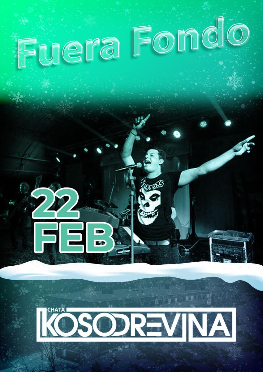 Koncert Fuera Fondo hotel Chata Kosodrevina Chopok februar na koske