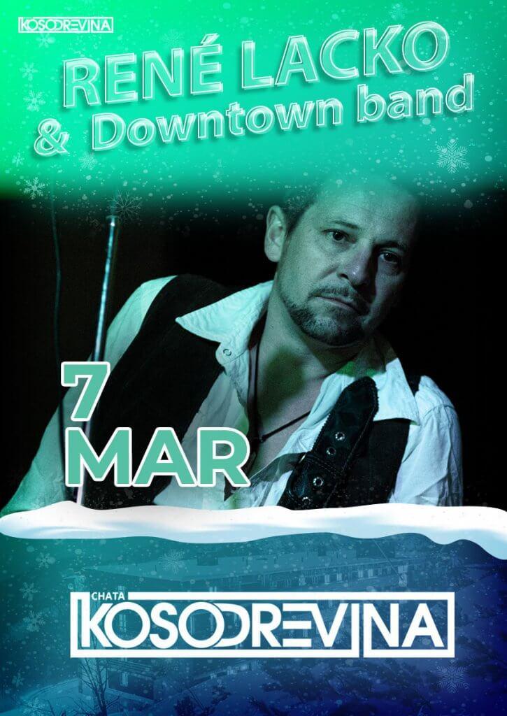 Koncert Rene Lacko and Downtown band chata kosodrevina Chopok Jasna